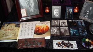 Black Tent Temple divination table